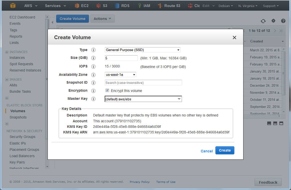 Search results p2 creating a volume in aws ec2 ensure the az is the same as your instance fandeluxe Choice Image