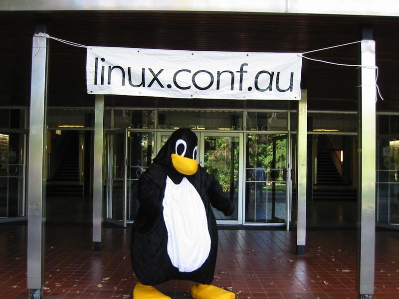 Tux at Linux.conf.au 2003