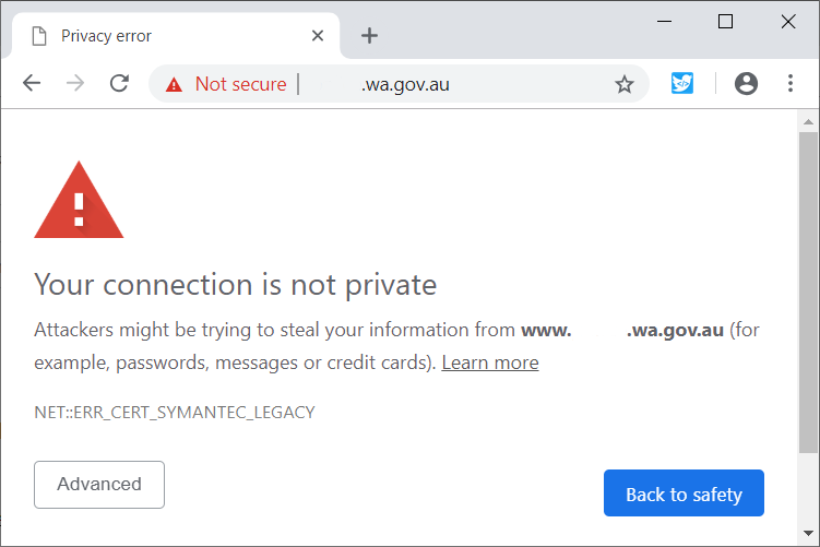 Previously Symantec Run Certificate Authority Distrust Is About To